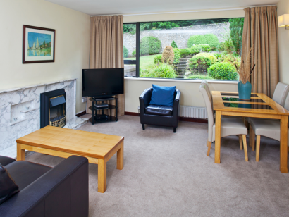 Corrib 2 living room - Fitzpatrick Castle self-catering holiday vactations