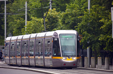 The Luas - Dublin's light-rail transit service - Fitzpatrick Castle transport