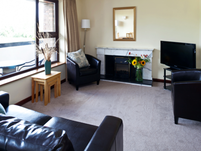 Dargle 1 living room - Fitzpatrick Castle self-catering Holiday homes